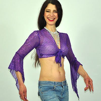 Sparkly Gypsy Top - Purple