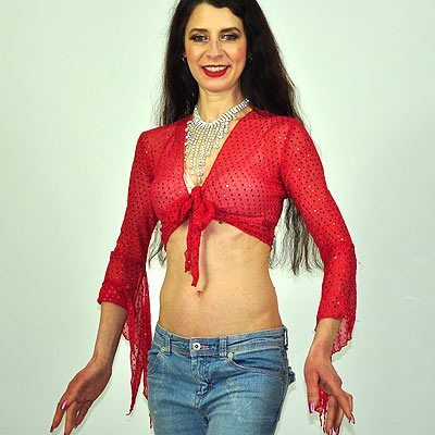 Sparkly Gypsy Top - Red