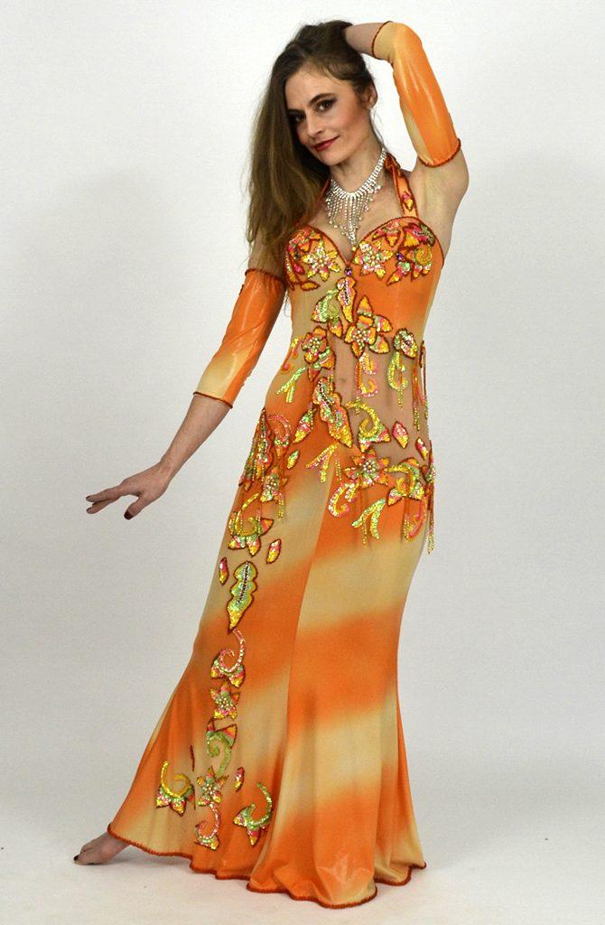 Baladi Dress - Peachy Orange