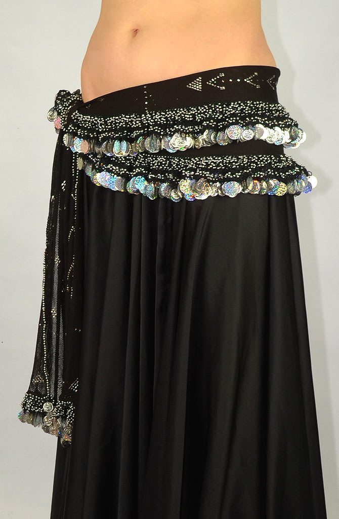 Belly Dance Hip Belt - Assuit Double Row