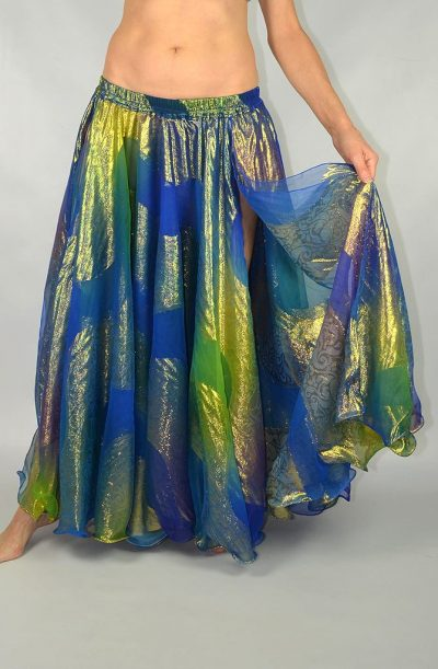 Shimmer Skirt - Royal Blue & Gold
