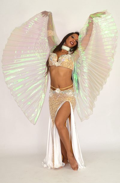 Short / Children's Isis Wings - Iridescent White