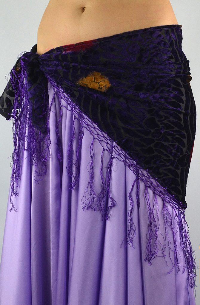Devoré Hip Scarf - Purple