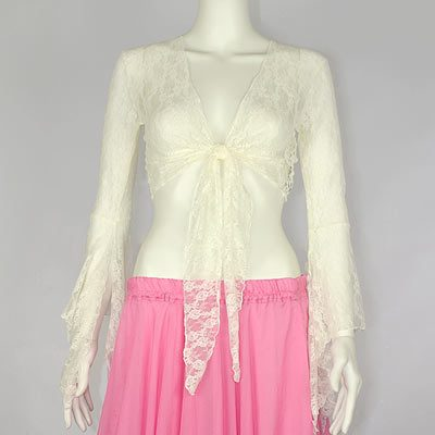 Lace Gypsy Top - Ivory