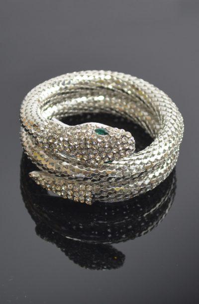 Snake Armlet - Silver