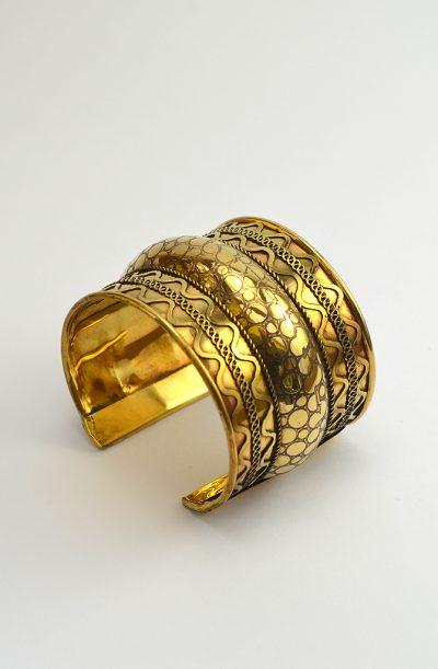 Brass Cuff - Wavy