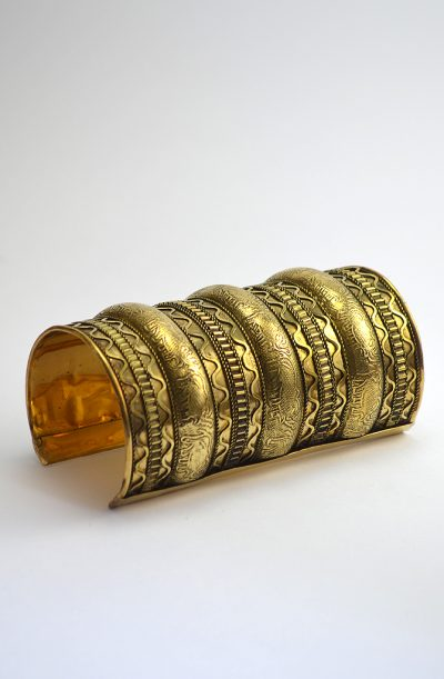 Brass Cuff - Long Wavy