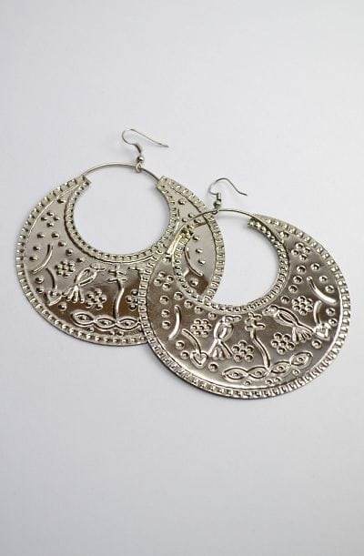 Egyptian Earrings - Silver Ghawaazi