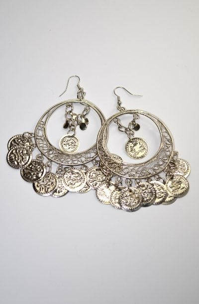 Egyptian Earrings - Silver Filigree