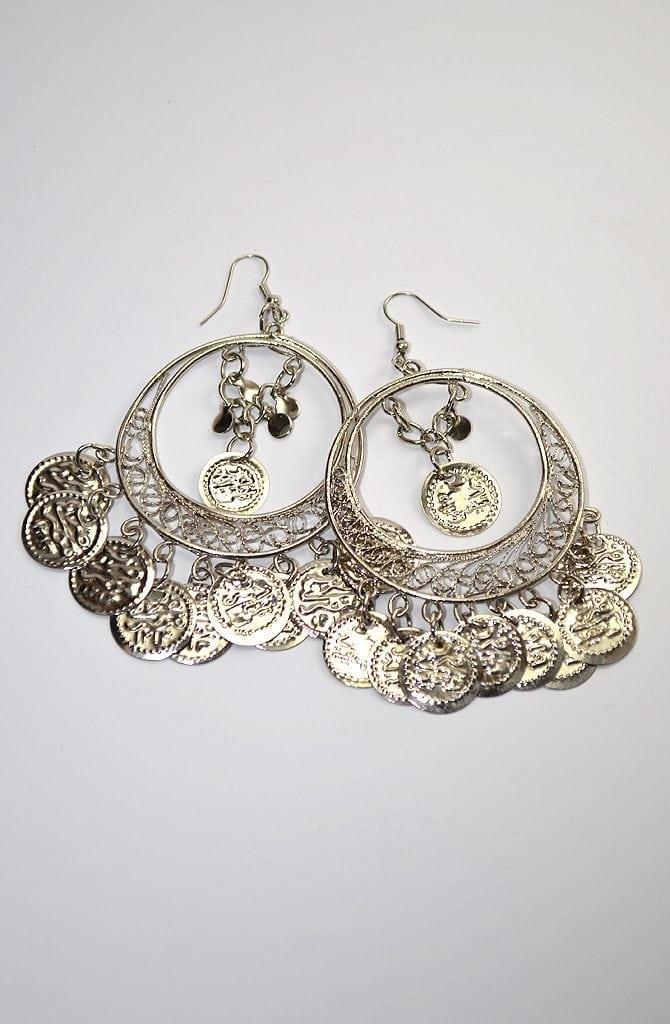 Egyptian Earrings - Silver Filigree