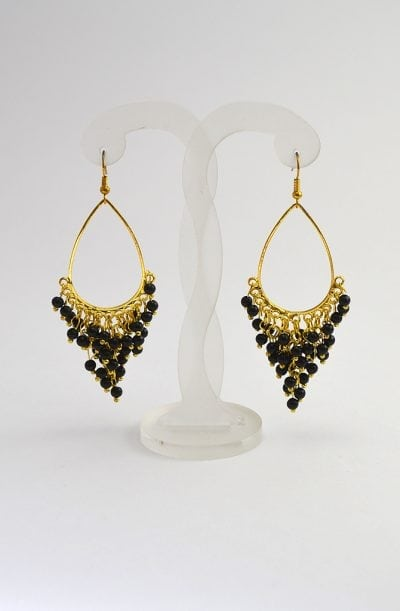 Beaded Earrings - Gold