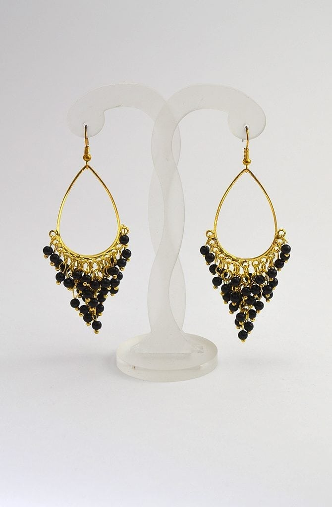 Beaded Earrings - Gold