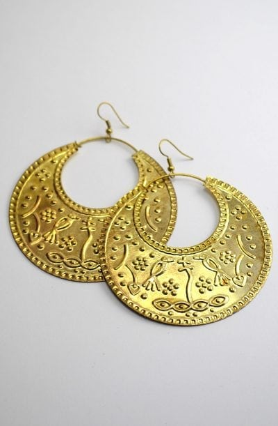 Egyptian Earrings - Gold Ghawaazi