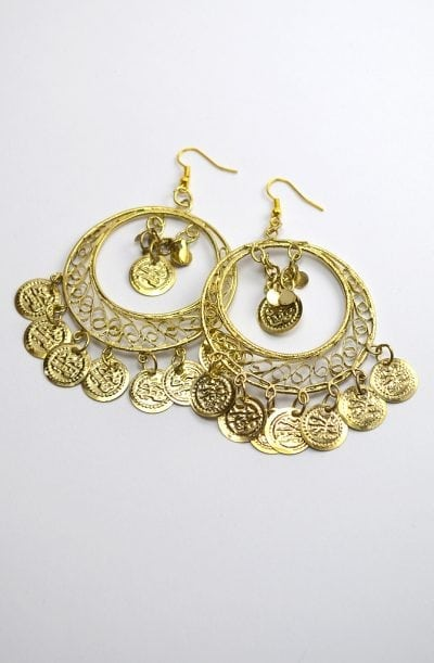 Egyptian Earrings - Gold Filigree