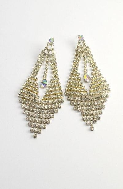 Diamanté Earrings - Aurora Droplet
