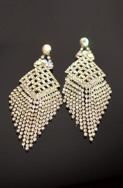 Diamanté Earrings - Geometric Diva