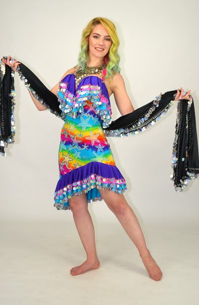 Malaya Leff Dress - Rainbow Stars