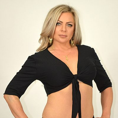 Half Sleeve Tie Top - Cotton Lycra - Black