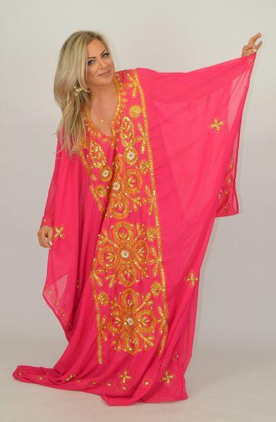 Khaleegi Thobe - Pink & Gold