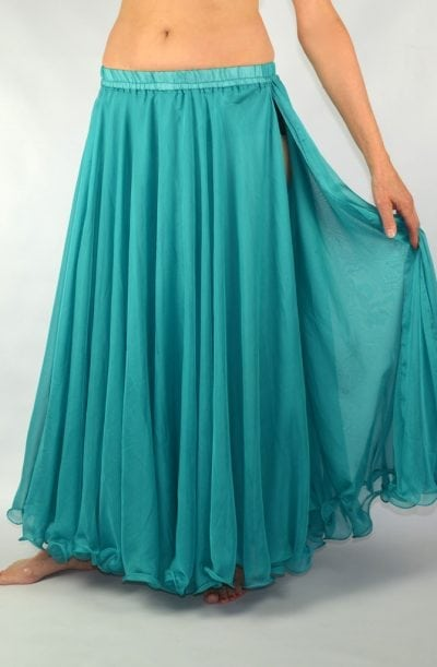 Double Chiffon Skirt - Aqua