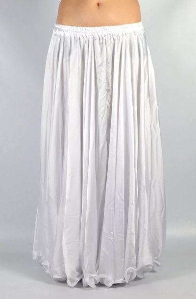 Silk Satin Skirt - White