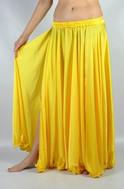 Silk Satin Skirt - Yellow