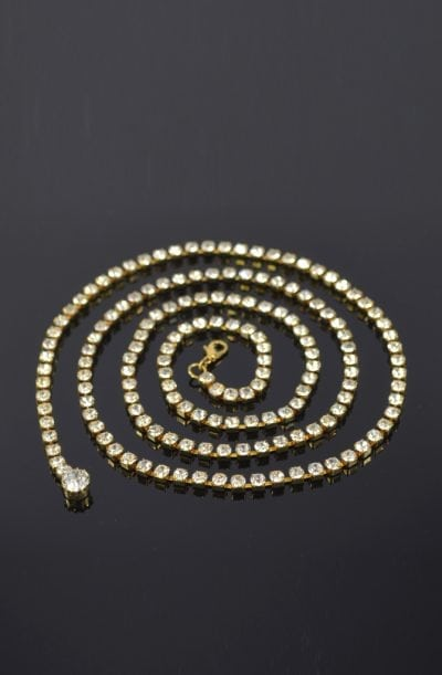 Diamanté Belly Chain - Gold