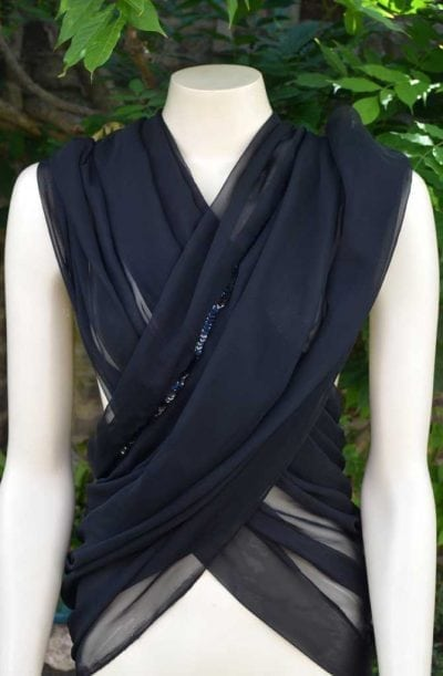Chiffon Veil - Black