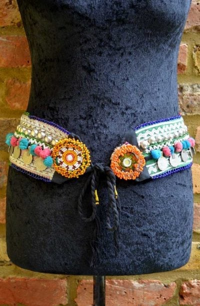 Tribal Belt - Pom Pom & Coin - Style 1