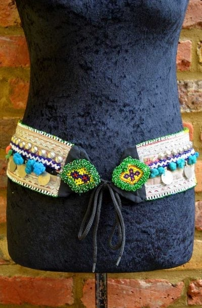 Tribal Belt - Pom Pom & Coin - Style 5