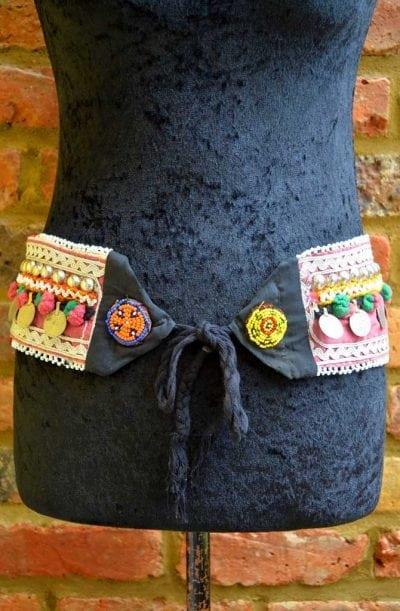 Tribal Belt - Pom Pom & Coin - Style 4
