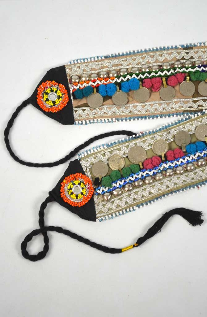 Tribal Belt - Pom Pom & Coin - Style 3