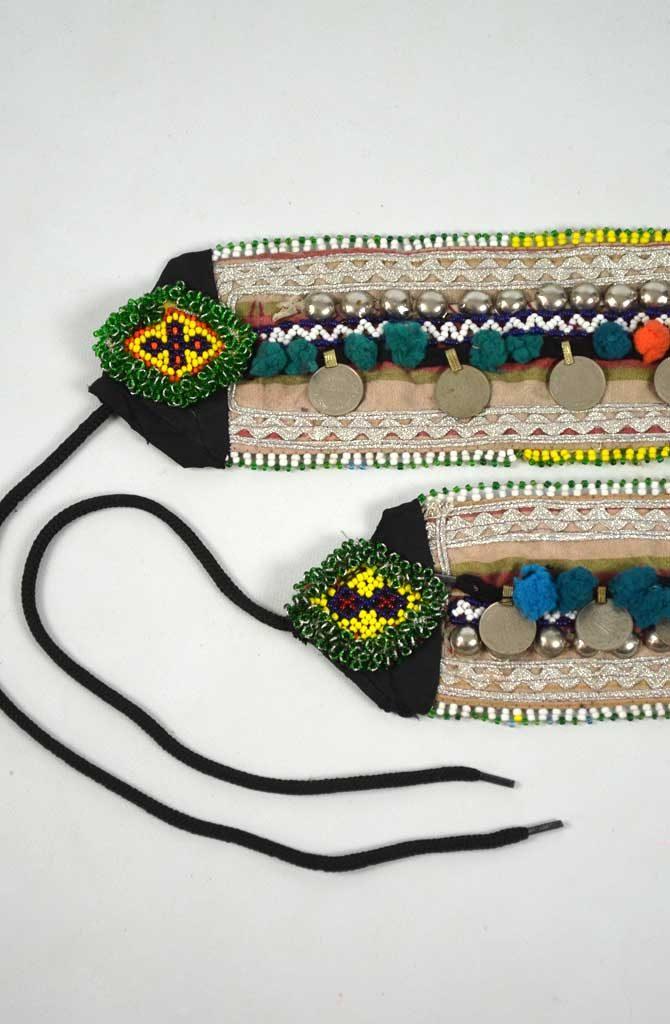 Tribal Belt - Pom Pom & Coin - Style 5