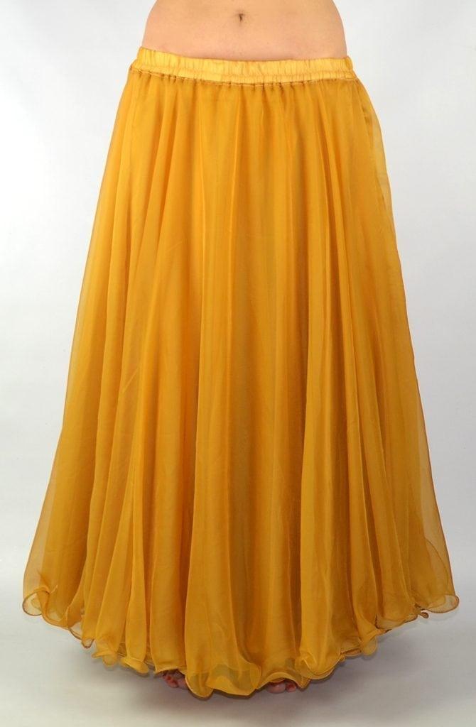 Double Chiffon Skirt - Gold