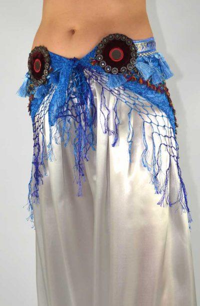 Tribal Chiffon Hip Scarf - Turquoise