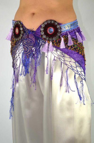 Tribal Chiffon Hip Scarf - Purple