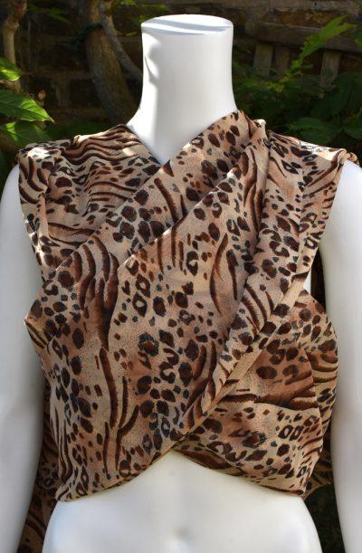 Chiffon Veil - Rectangular Animal
