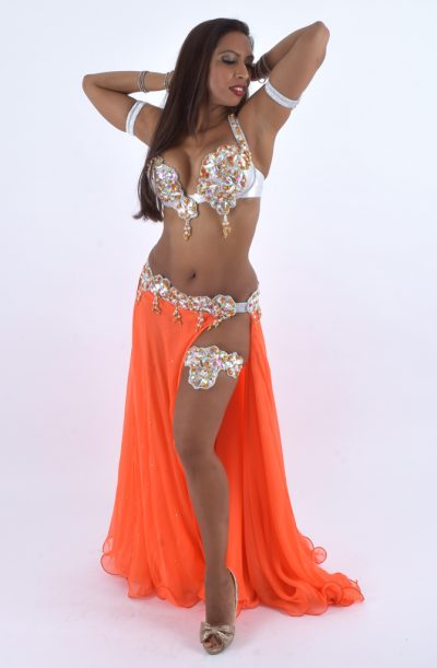 Belly Dance Costume - Tangerine Dream by Eman Zaki