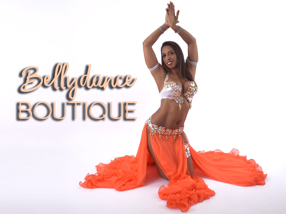 Bellydancer in orange dress