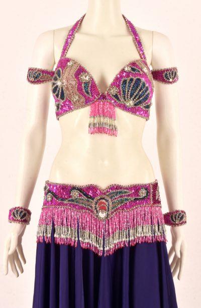 Bra & Belt Set - Pink & Blue