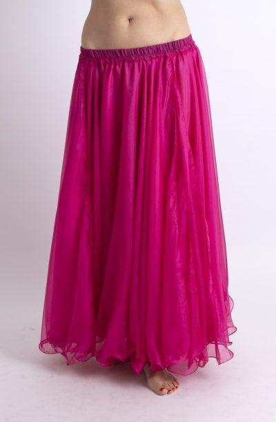 Double Chiffon Skirt - Fuchsia Pink