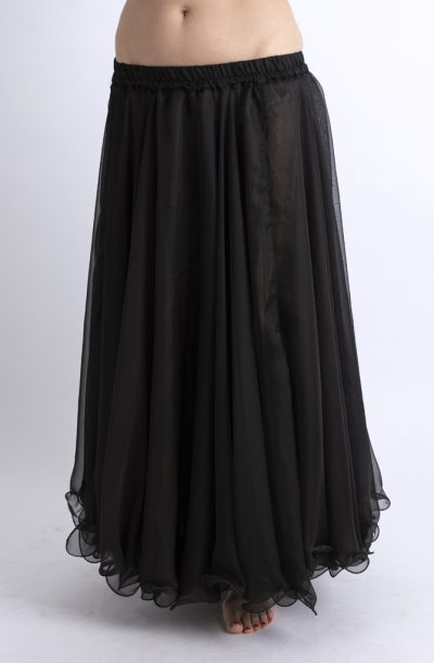 Double Chiffon Skirt - Black