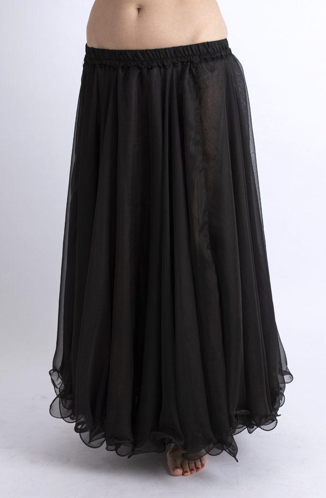 Double Chiffon Skirt - Black