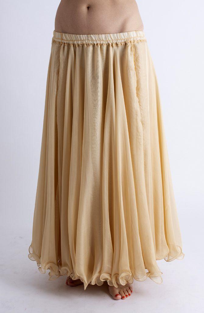 Double Chiffon Skirt - Caramel