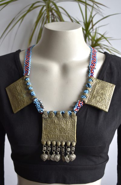 Tribal Jewellery - Old Amulet Box Necklace