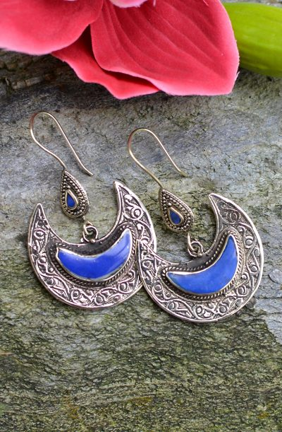 Tribal Earrings - Afghani Crescent
