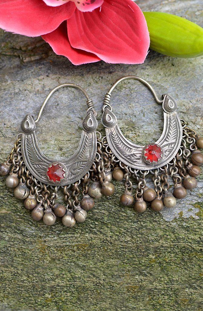 Tribal Earrings - Old Kashmiri
