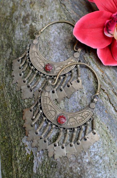Tribal Earrings - Old Kashmiri Large