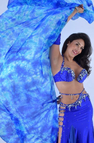 Silk Veil Tie Dye - Blue & Turquoise