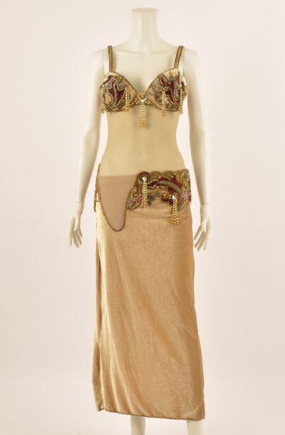 Preloved Baladi Dress - Latte & Gold